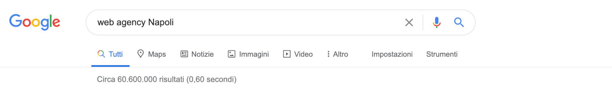 web agency napoli google